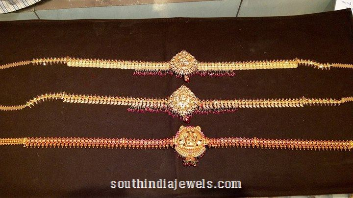 22k gold antique vadanam designs