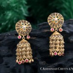 22K Gold Jhumkas from C Krishniah Chetty & Sons