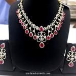 Fancy American Diamond Ruby Necklace