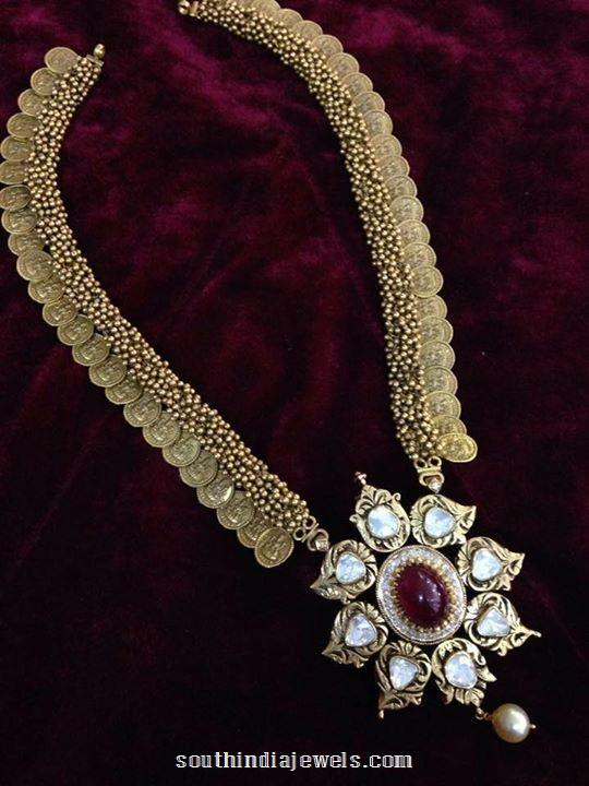 Antique Gold Coin Necklace Latest design