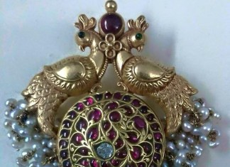 Gold Antique Peacock Pendant
