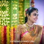 South India Bride in Gold Antique Jewelleries