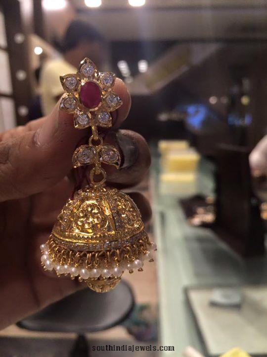 CZ Stone Jhumka latest model
