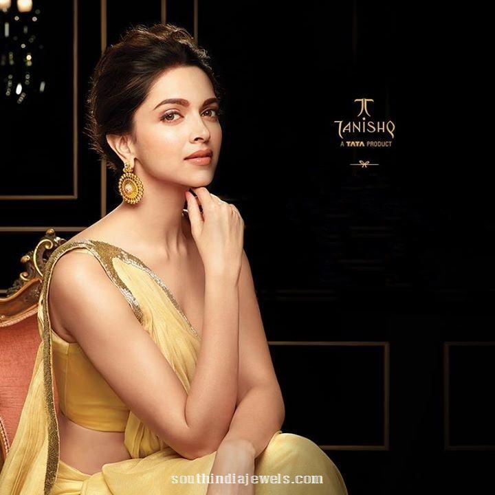 Deepika padukone tanishq earrings design
