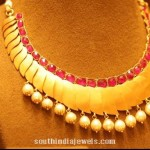 Designer Gold Ruby Necklace from Manubhai Jewellers
