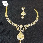 Designer Gold Short Necklace