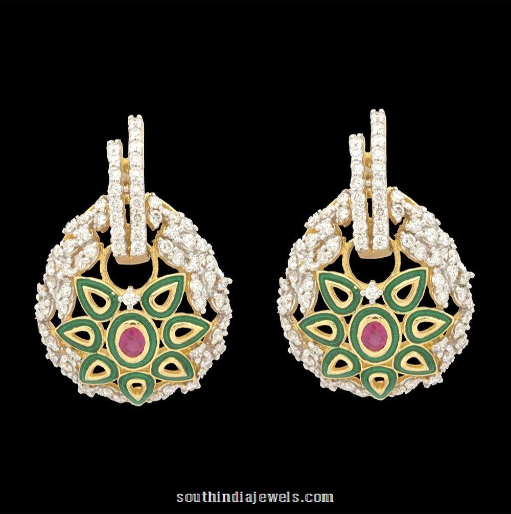 Diamond Ear stud from Kothari Jewellery