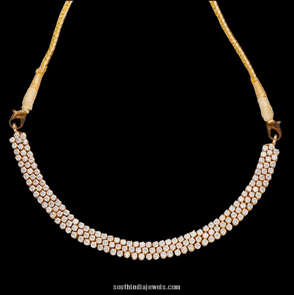 Simple Diamond Necklace from Kothari Jewellery