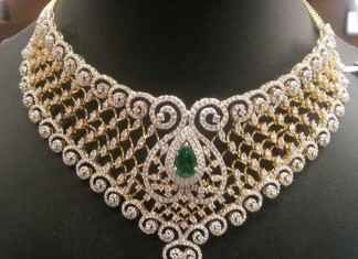 Emerald Diamond Choker from PSJ