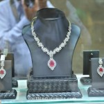 Floral Diamond Necklace and Earrings from PC Jewellers