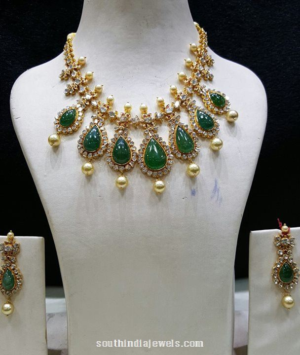 Gold Emerald Necklace from SBJ