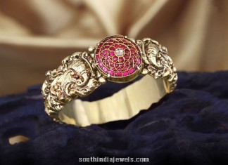 Gold antique bangles from C Krishniah Chetty and Sons