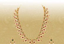 Gold Antique Mango Mala Necklace Set from VBJ