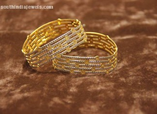 Gold Designer bangles from Manubhai