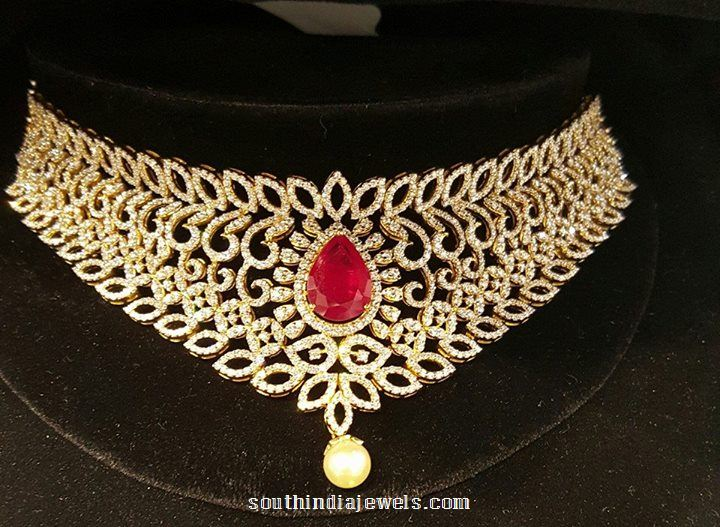 Diamond Choker from Balaji Jewellers