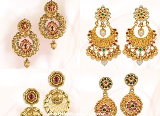 Gold Earrings designs from GRT