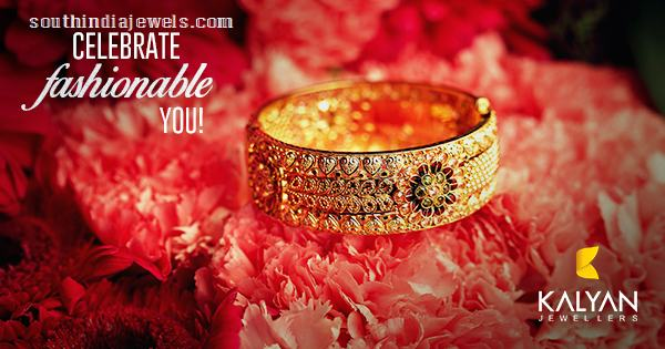 Gold Kada Bangle from Kalyan Jewellers