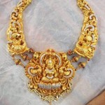 Gold Temple Jewellery Lakshmi Necklace