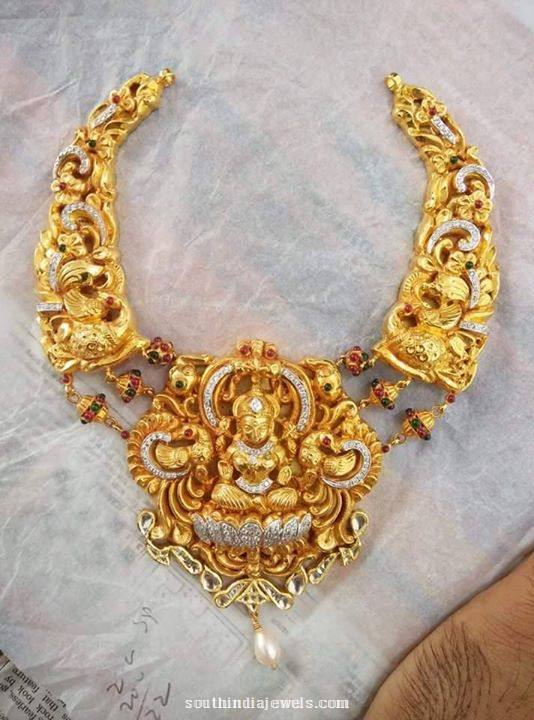 Gold Lakshmi Choker necklace