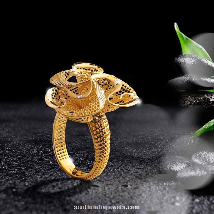 22k gold ring design from one south india jewels