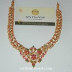 Gold Stone Peacock Necklace