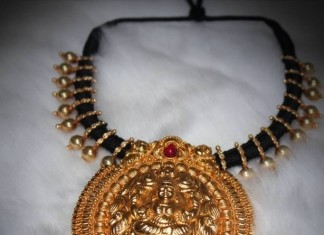 Gold Threaded temple Jewellery necklace shine jewellery