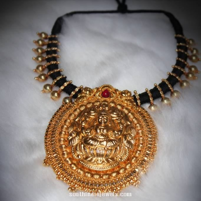 Gold Plated Temple Jewellery Necklace South India Jewels