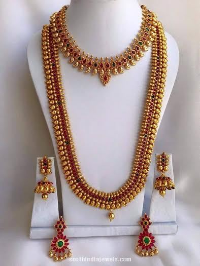 Imitation South Indian Wedding Jewellery set