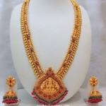Imitation Antique Long Haram with Jhumkas