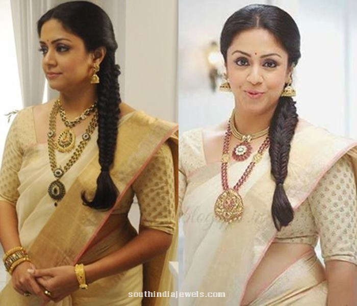 Jyothika in Saravana thanga nagai maligai elite antique jewellery designs