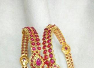 Ruby Imitation Bangle designs