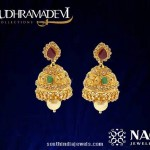Gold Jhumka Design from NAC Rudramadevi Collections