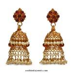 22K Gold Jhumka Earrings from Bhima Jewels