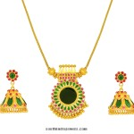 Kerala Style Gold Necklace Set from Jos Alukkas