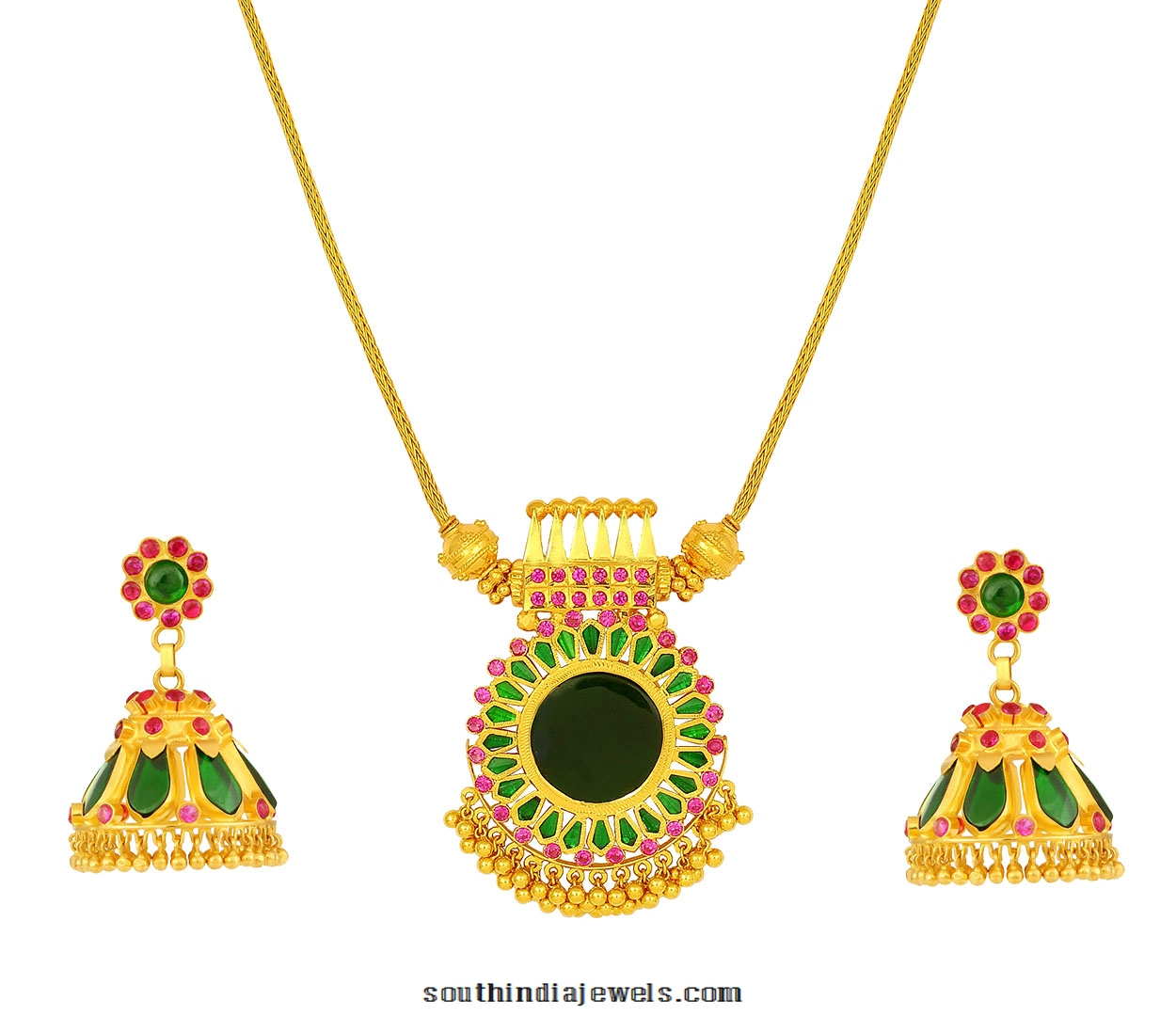 Kerala style gold necklace set from jos alukkas south india jewels kerala style gold necklace sets from jos alukkas aloadofball Image collections