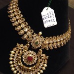 Gold Polki Long Necklace Design