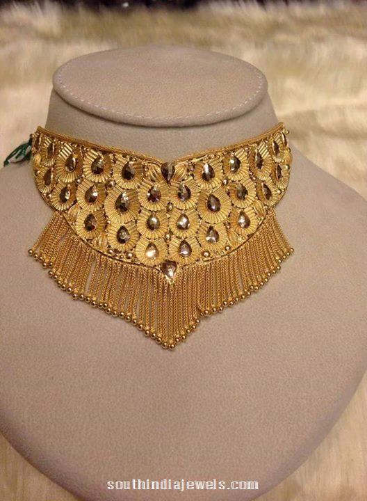 22 Carat Gold Choker Necklace Design