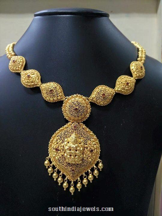 22k gold simple necklace design