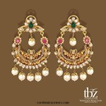 22K Gold Chandbali Earrings from TBZ