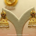 22K Gold Temple Jhumka From Manubhai Jewellers