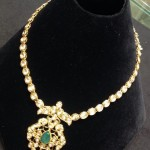Gold Short Polki Necklace Design
