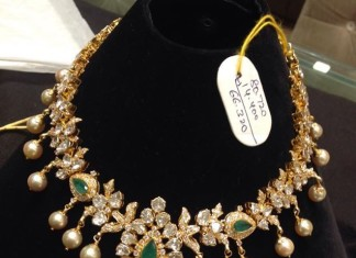 Gold Polki Choker with Weight details