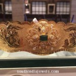 70 Grams Gold Vadanam with Emerald