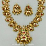 Antique Ruby Mango Mala Necklace Set