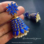 Imitation Blue Pachi Jhumka