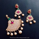 Designer Stone Pendant and Earrings