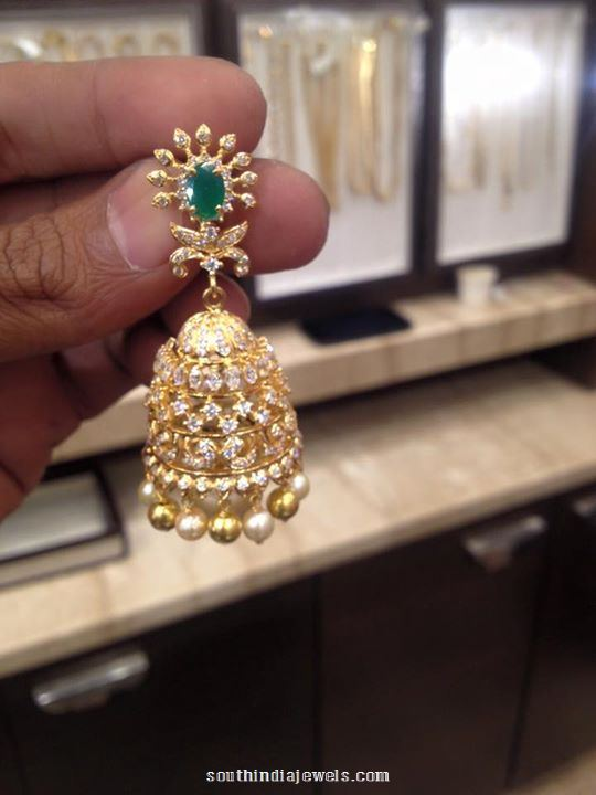 Latest Model Diamond Emerald Jhumka