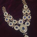 Diamond Sapphire Necklace Design