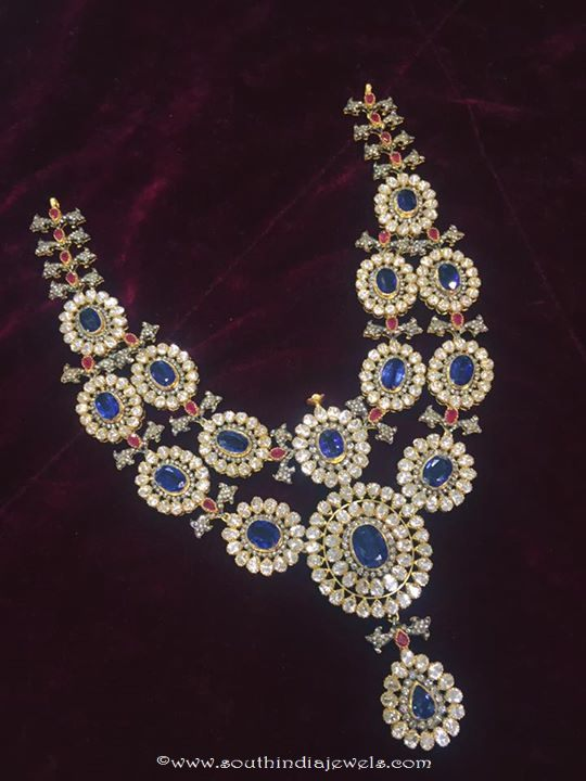 Diamond Necklace  with Sapphire
