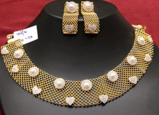 Fancy American Diamond Necklace set